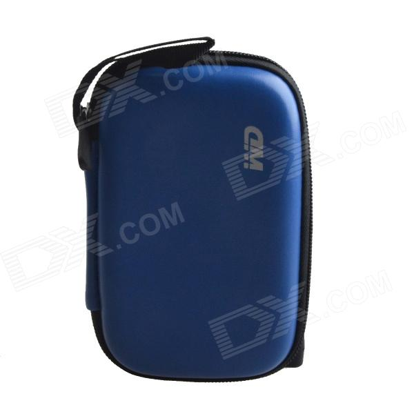Portable Protective Hard Shockproof Bag Case for 2.5 Hard Disk Drive - Blue spark storage bag portable carrying case storage box for spark drone accessories can put remote control battery and other parts