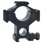 30mm Caliber Aluminum Alloy Separate Gun Bracket Scope Mount - Black
