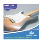 DEDO MA-69 Electric Guitar Nylon + Steel 6 String Guitar Strings - White + Transparent (6 PCS)