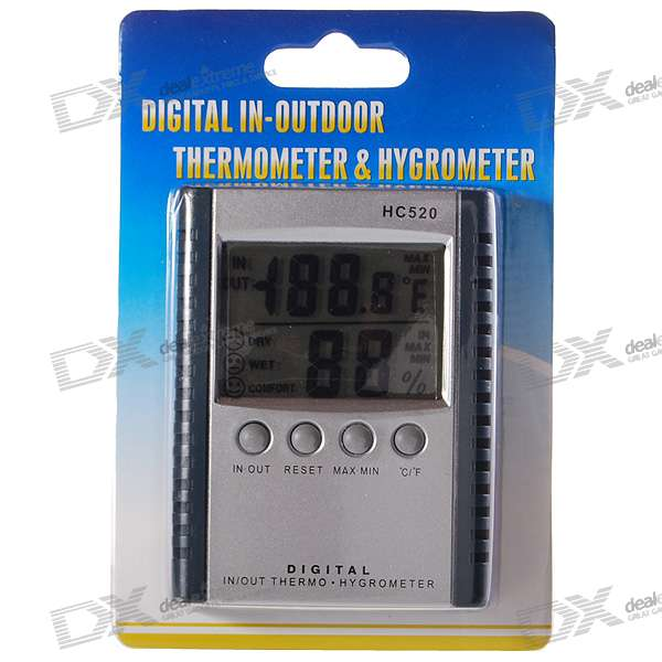 2.5 Digital LCD Humidity/Hygrometer and Thermometer (1*AAA) wireless 3 7 lcd digital thermometer humidity meter with remote sensor 3 x aaa 2 x aaa