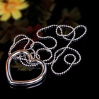 Heart-shaped  Magic Seamless Stainless Steel Necklace - Silver