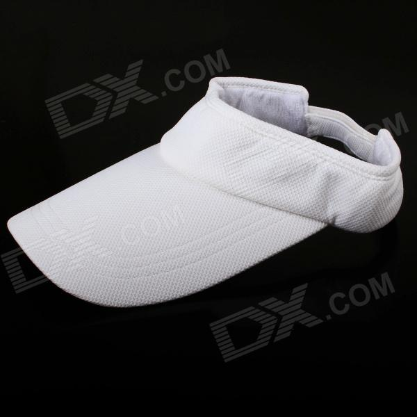 Colors Cotton Unisex Visor Hat Sun Cap Adjustable Golf Tennis for Men Women Kid - White gc e14 3w 170lm 3000k 64 3014 smd led warm white light corn bulb ac 90 240v