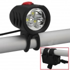 RichFire SF-814B 3 x CREE XM-L T6 2400lm White 5-Mode LED Bicycle Headlight - Black (4 x 18650)