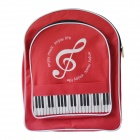 DEDO MG-185 Classic Students Bag with Piano Keyboard - Black + Red