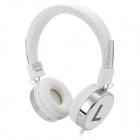 Kanen IP-870 Retro Stereo Headphone w/ Mic - White (3.5mm)