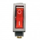 Jtron Illuminated Rocker Switch 3-Pin 2-Mode - Rouge (16A, 250V AC / 20A, 125V AC)