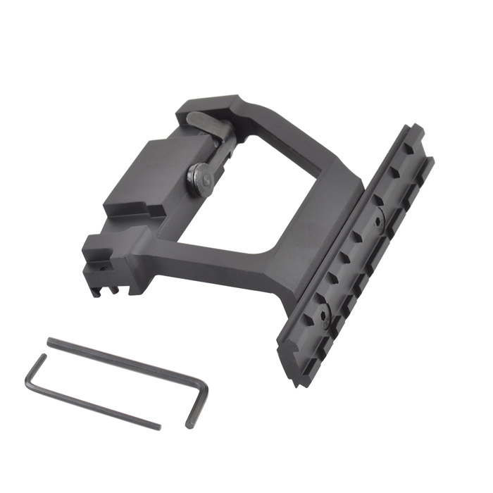 20mm Rail Aluminum Alloy Scope Mount Base for AK74 - Black