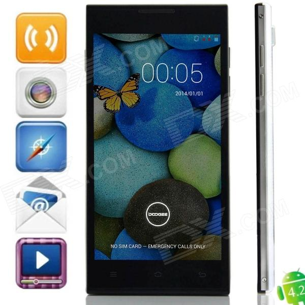 DOOGEE TURBO DG2014 MTK6582 Quad-core Android 4.2.9 WCDMA Bar Phone w/ 5.0 OGS, Wi-Fi, GPS - White