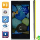 "DOOGEE TURBO DG2014 MTK6582 Quad-core Android 4.2.9 WCDMA Bar Phone w/ 5.0"" OGS, Wi-Fi, GPS - Yellow"