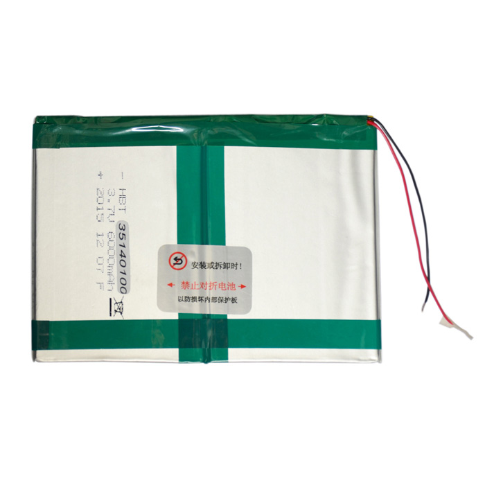 "HBT35140100 Universal 3.7V 6000mAh innebygd batteri for 9.7 ""/ 10"" / 10.1 ""Tablet PC - Sølv"