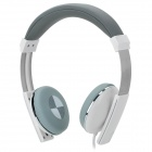 Kanen IP-200 Stylish Headphones w/ Remote / Microphone for Cell Phone - White + Grey