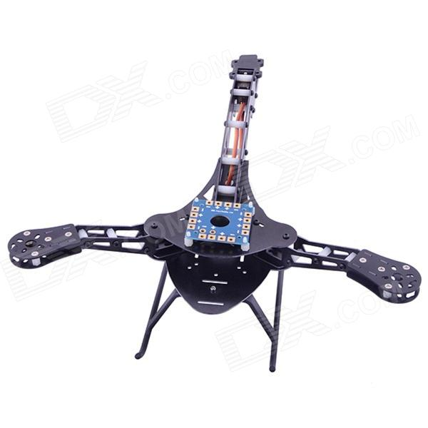 HJ-Y3 Glasvezel Tricopter - Drie-as Multicopter Frame - Zwart