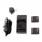 AHDBT-301 1300mAh Battery + US Plug Power Adapter + Car Charger for GoPro HD Hero 3 / 3+ - Black