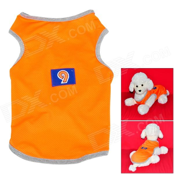 Doglemi DM30079 Polyester Mesh Vest for Pet Dog - Fluorescent Orange (L)
