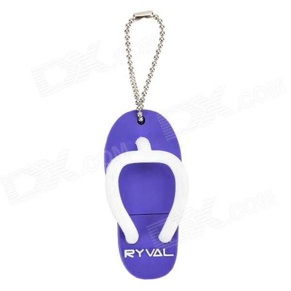 RYVAL Slipper Style Waterproof USB 2.0 Flash Drive - Purple (8GB) cute slippers style usb flash drive with chain deep pink 16gb
