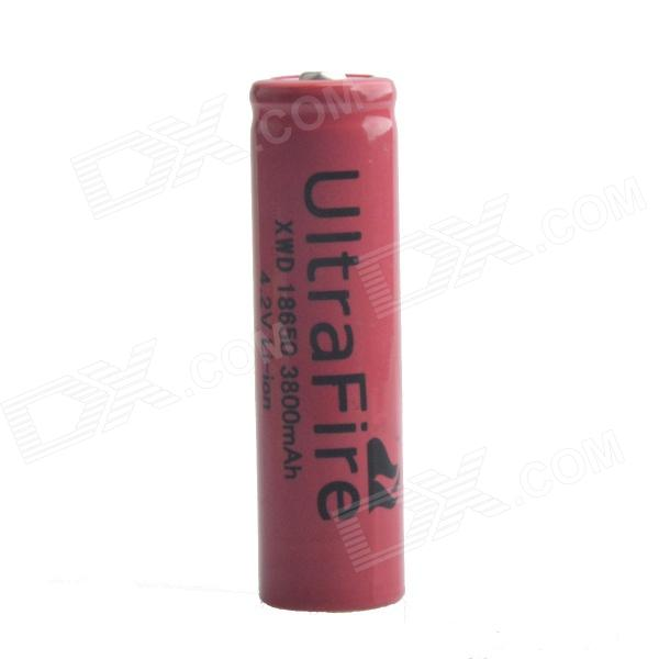 Feu Ultra XWD-18650 4.2V 700mAh 18650 Batterie Rechargeable au Lithium Ion - rouge