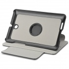 Protective PU Leather Case w/ 360 Degree Rotating Back / Holder for ASUS FonePad ME371 - Black