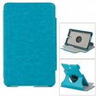 Protective 360 Degree Rotation PU Leather Case w/ Holder for ASUS FonePad ME371 - Sky Blue