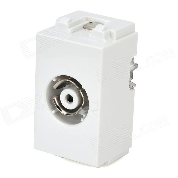 Wall Television Aerial Socket Panel Module - White