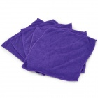 Thick Superfine Fiber Car Surface Cleaning Towels Set - Purple (30 x 30cm / 5 PCS)
