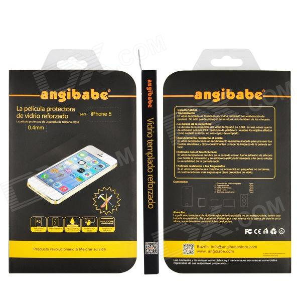Russian / Spanish / English Version Premium Tempered Glass Screen Protector for IPHONE 5 / 5C / 5S - DXScreen Protectors<br>1. Surface is anti-oil processing (Oleophobic coating) so fingerprints and oil is not easy to stay surface easy to clean. 2. Full bonding automatic adsorption can be repeated bonded 3. Fully transparent: very thin chemically treated transparent tempered glass. 4. Surface hardness: The surface has a hardness of 8~9h It is 9 times stronger than ordinary glasses. Tool and keys are not cuts 5. Delicate touch: the back of strong adhesives easy to install close to the screen and therefore does not affect the touch sensitivity of the touch screen. 6. Explosion-proof shatter-resistant glass breaks into small piece of sharp more secure than other glass products.<br>
