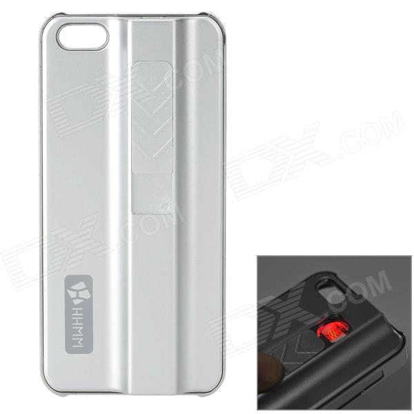 Protective ABS Case w/ Cigarette Lighting Function for IPHONE 5 / 5S - Silver creative protective abs back case w cigarette lighter for iphone 5 5s grey silver