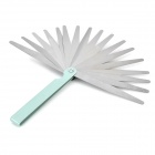 A132 0.02 to 1mm Stainless Steel 17 Blades High Precision Feeler Gauge - Silver