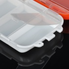 Portable 3-deck Sealing Plastic Pill Case Box - White + Jacinth