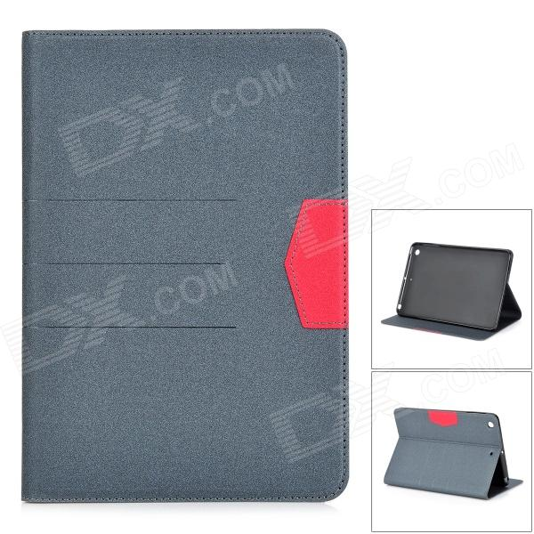 Matte Protective PU + Silicone Case w/ Stand for IPAD MINI / Retina IPAD MINI - Grey protective silicone back case for retina ipad mini translucent white