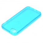 S-What Protective TPU Back Case for IPHONE 5 / 5S - Translucent Dark Blue