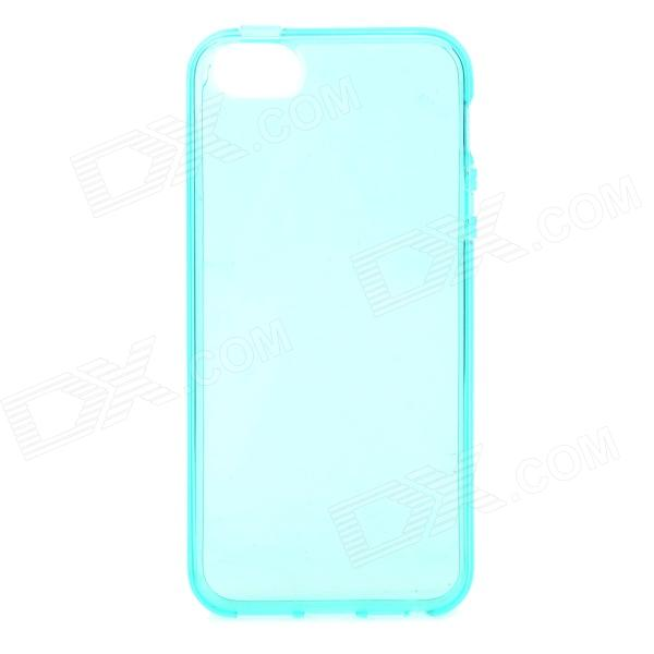 S-What Protective TPU Back Case for IPHONE 5 / 5S - Translucent Green