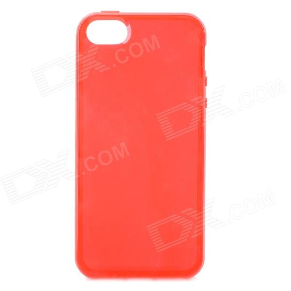 S-What Protective TPU Back Case for IPHONE 5 / 5S - Translucent Red s what 0 3mm ultrathin protective frosted tpu back case for iphone 5 5s translucent red