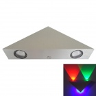 Triangle 3W 120lm 3-LED RGB Light Wall Lamp - Silver + Black (AC 100~240V)