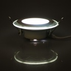 JOYDA-BL06Y WH DC Plug 6W 600lm 6000K 10-LED White Round Ceiling Light - White (AC 85~265V)