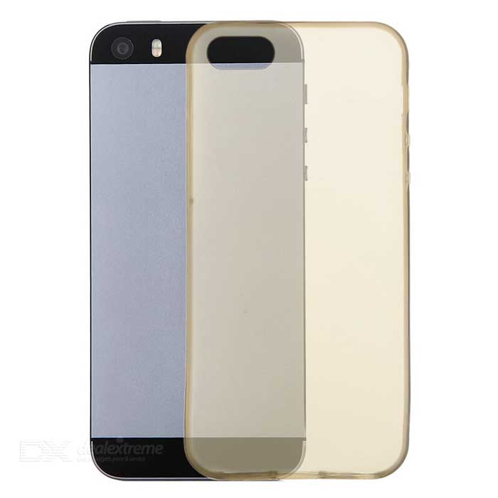 Protective TPU Back Case for IPHONE 5 / 5S - Translucent Black
