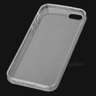 Protective 0.1mm TPU Back Case for IPHONE SE/5/5S - Transparent White