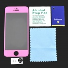 GLASTO 9H Protective Tempered Glass Screen Protector for IPHONE 5 / 5S - Deep Pink + Transparent