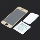 GLASTO 9H Clear Tempered Glass Screen Protector for IPHONE 5 / 5S - Golden + Transparent