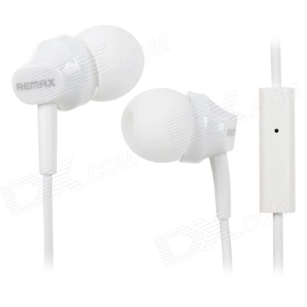 REMAX RM501 Stylish In-Ear Earphone w/ Microphone for Cell Phone - White (3.5MM)