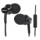 REMAX RM501 Stylish In-Ear Earphone w/ Microphone for Cell Phone - Black (3.5MM)