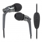 JBM MJ6600 Stylish In-Ear Earphone for Cell Phone / MP3 / MP4 / PC - Iron Grey + Black (3.5MM)