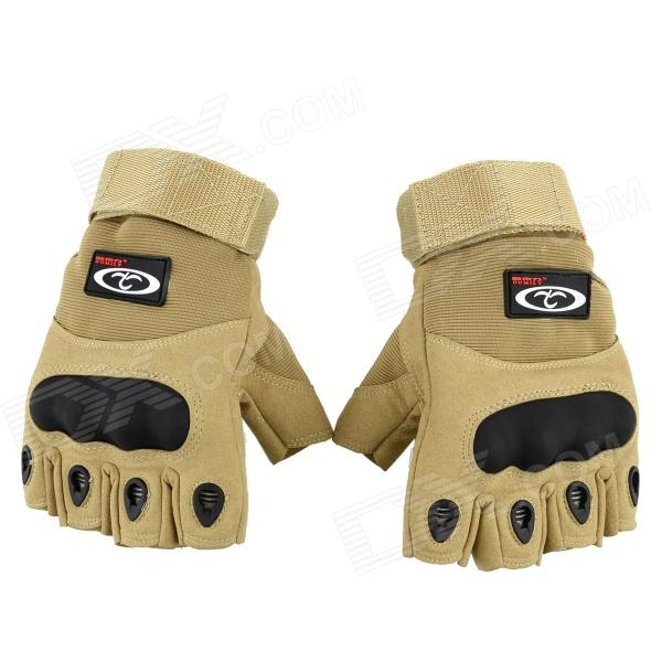 OUMILY Outdoor Tactical Half-Finger Gloves - Khaki (Size-XL / Pair)