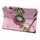 360 Degree Rotation Protective PU Leather Case Cover Stand for IPAD AIR - Pink