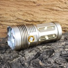 KINFIRE 6 x CREE XM-L2  3000lm 3-Mode White Flashlight - Golden (4 x 18650)