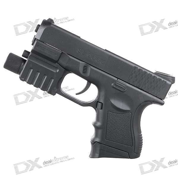 6mm Pistol BB Gun Toy with Laser Sight and Blue Light Flashlight