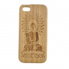 Protective Carving Buddha Pattern Wooden Back Case for IPHONE 5
