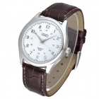 HMD6086 Fashionable Men's Casual Watch - White + Brown