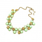 Euramerican Fashionable Temperamental Short-Length Necklace - Golden + Green