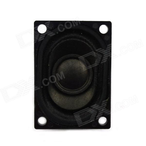 Jtron 8 Ohm 2W 40 x 28mm Square Speaker - Black + Silver jtron 8 ohm 5 watt lcd tv speaker silver