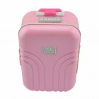 Creative Suitcase Style Music Box - Pink + White
